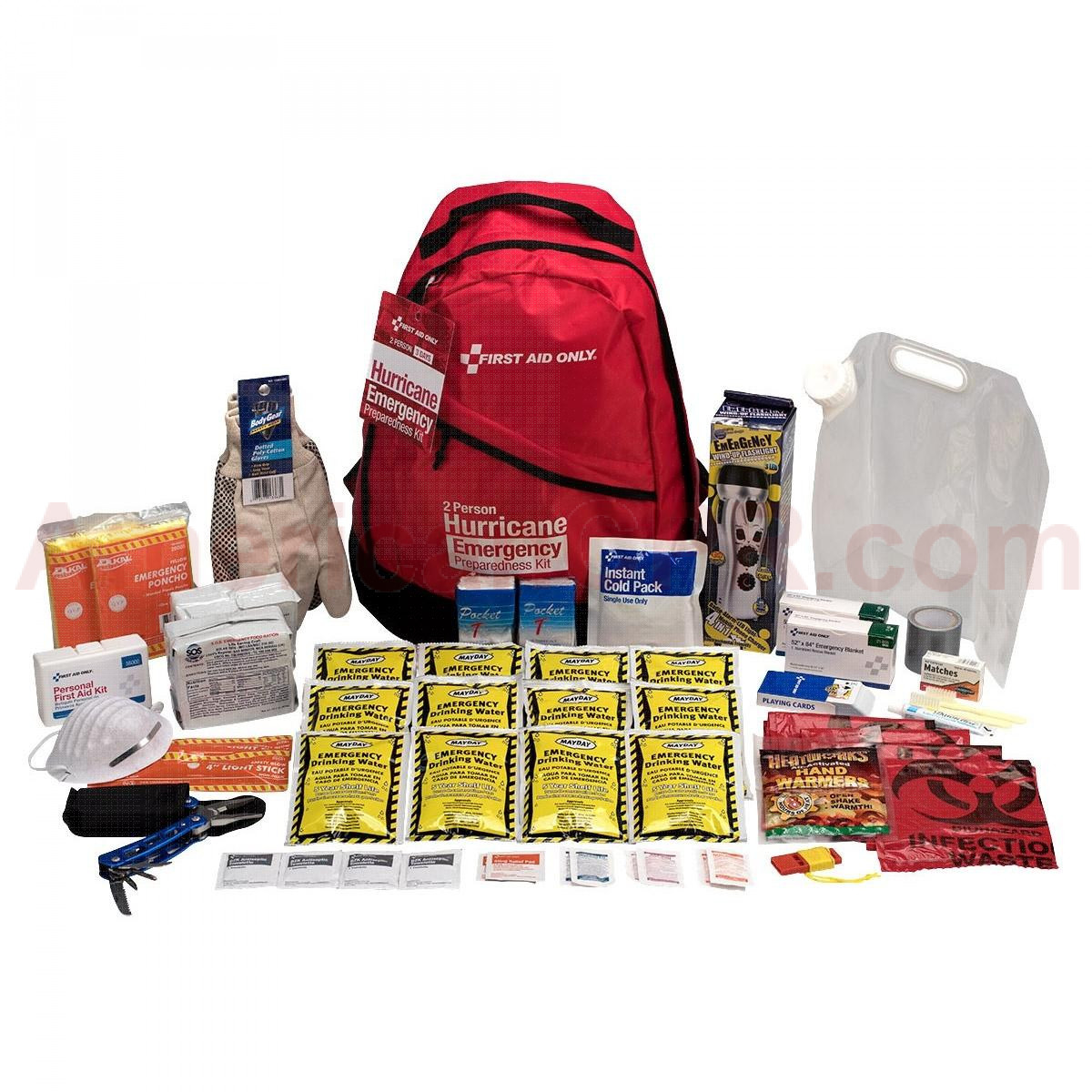 2 Person Emergency Preparedness Hurricane Backpack, First Aid Only