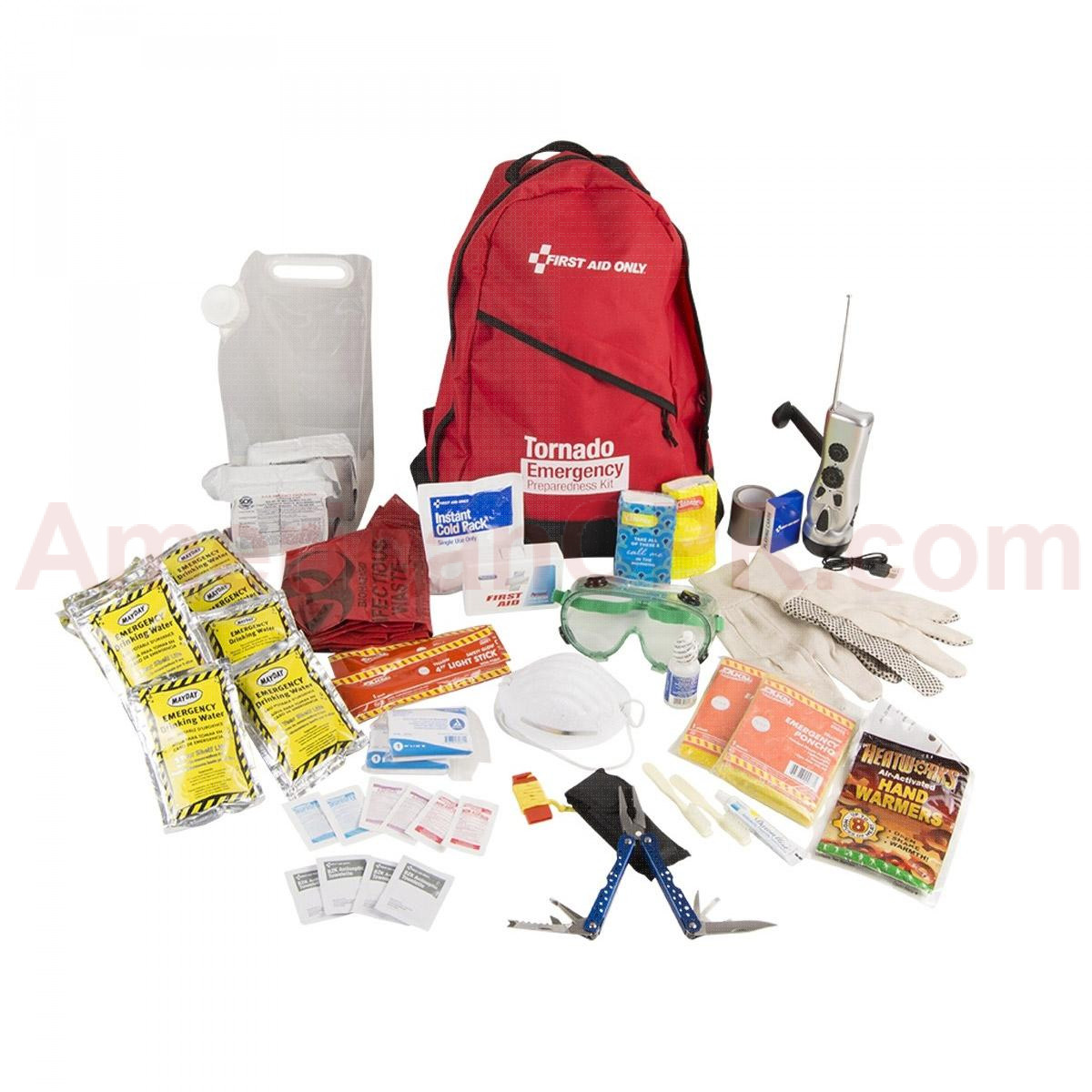 2 Person Emergency Preparedness Tornado Backpack, First Aid Only