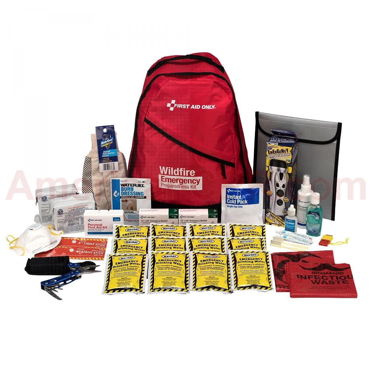 2 Person Emergency Preparedness Backpack Wildfire, First Aid Only