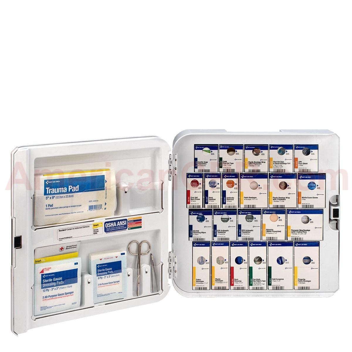 Smart Compliance Complete Cabinet ANSI A+ No Meds, Plastic, First Aid Only