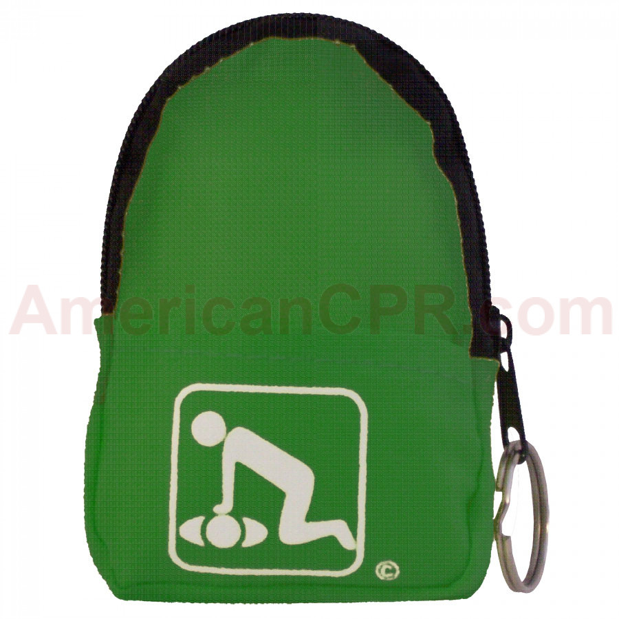 CPR Green Belt/KeyChain BackPack:Shield-Gloves - American CPR Training