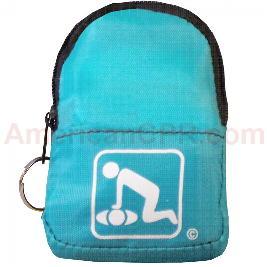 CPR Light Blue BeltLoop/KeyChain BackPack - American CPR Training