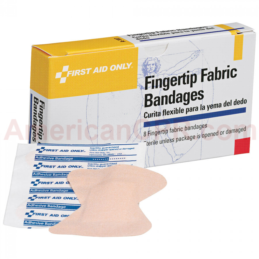 Fingertip Bandage - Fabric - 8 Per Box - Pac-Kit by First Aid Only
