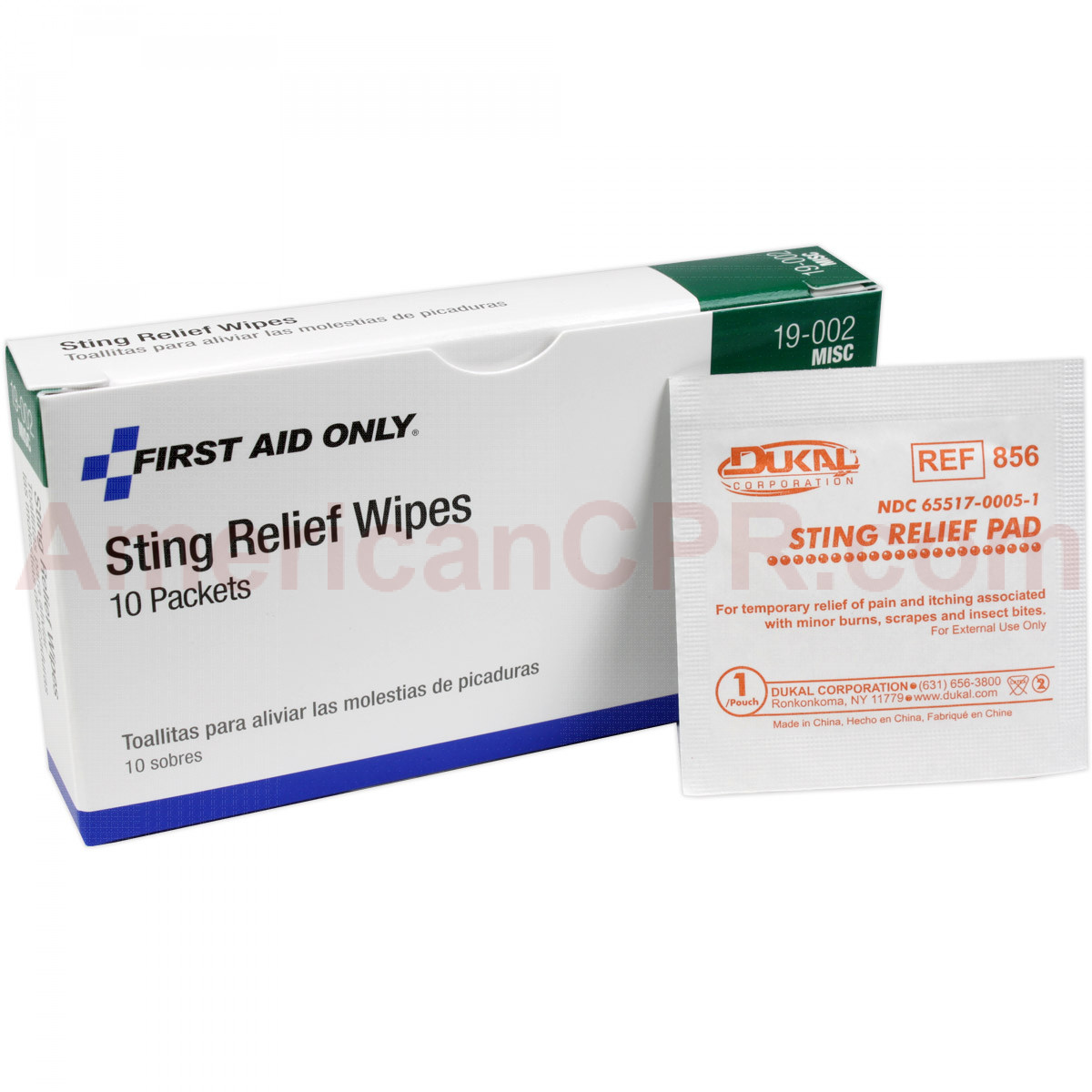 Insect Sting Relief Pad - 10 Per Box - Pac-Kit by First Aid Only