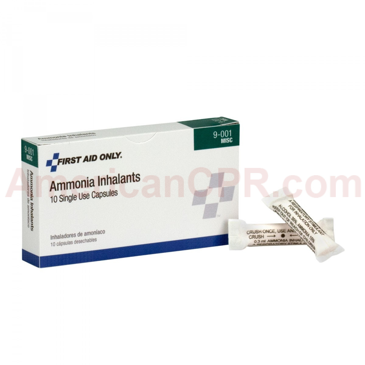 Ammonia Inhalant (Smelling Salts) Ampoules / Ampules - 10 Per Box - Pac-Kit by First Aid Only