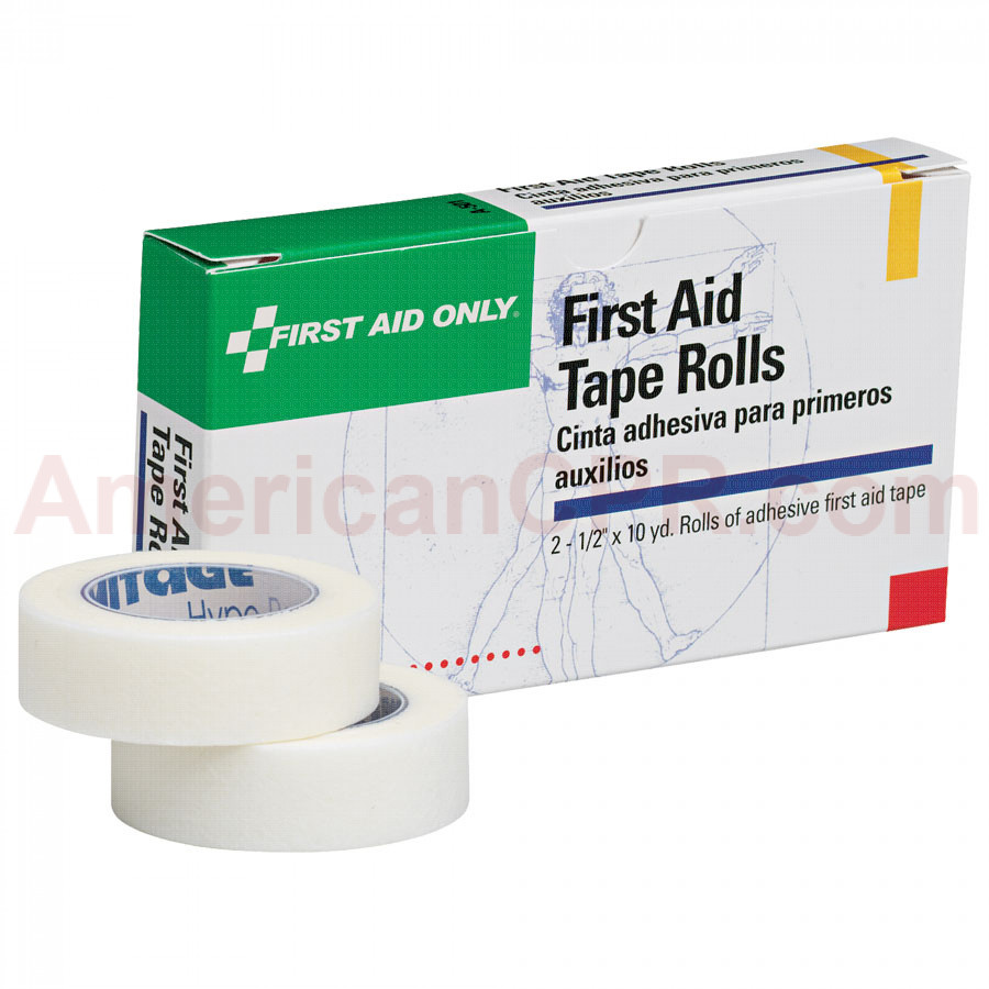 "First Aid Tape - 1/2"" x 10 yd. - 2 Rolls Per Box - Pac-Kit by First Aid Only"