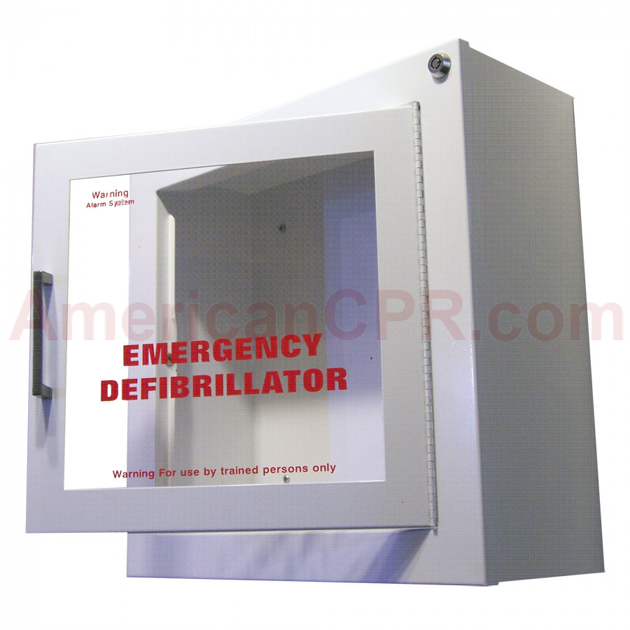 AED Wall Cabinet - Surface mount with Alarm - JL Industries