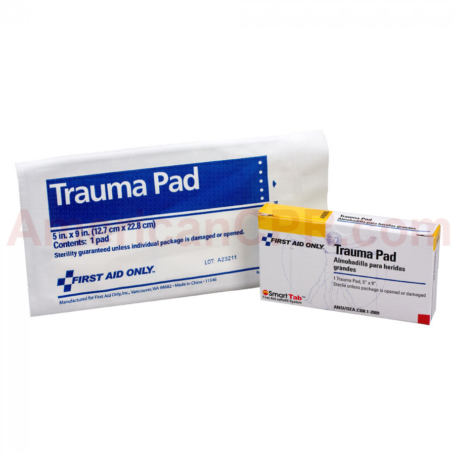 "Trauma Pad, 5""x9"" - 1 per box - Pac-Kit by First Aid Only"
