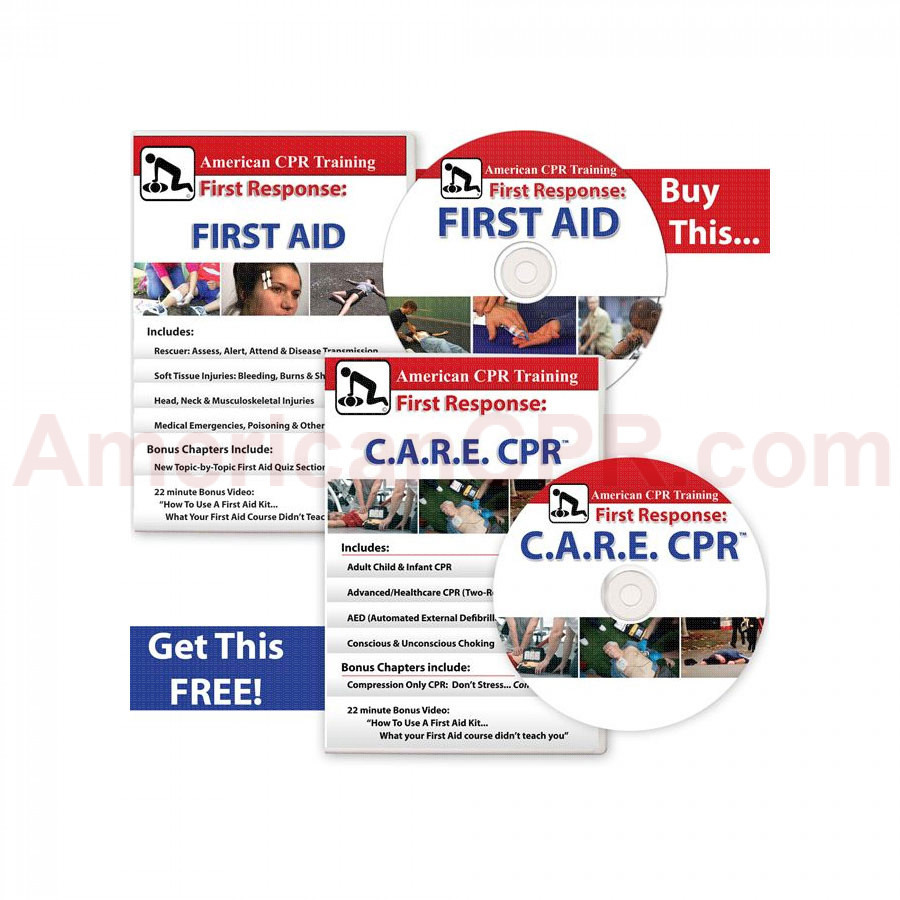BOGO: The First Aid Video + C.A.R.E.™ CPR DVDs - American CPR Training