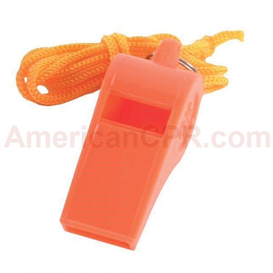 Plastic Whistle with Lanyard - Value Brand
