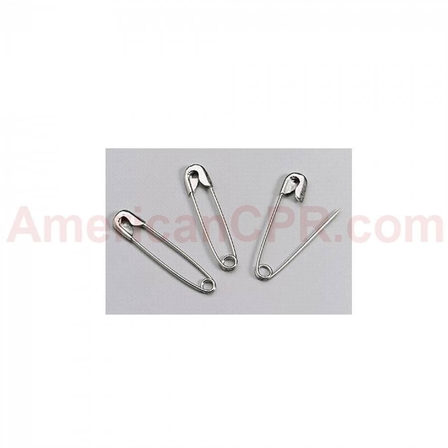 "Safety Pins - #2 Medium - 144 Per Box (1-1/2"") - First Aid Only"