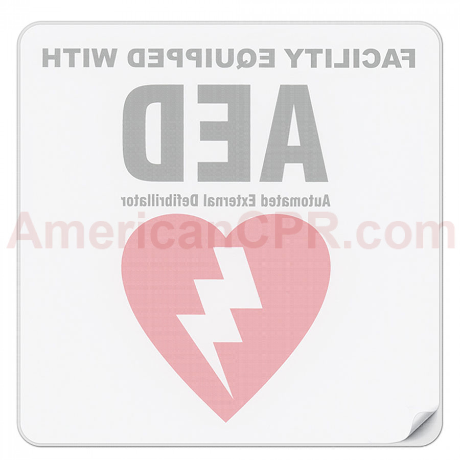 Facility AED Decal - Defibtech