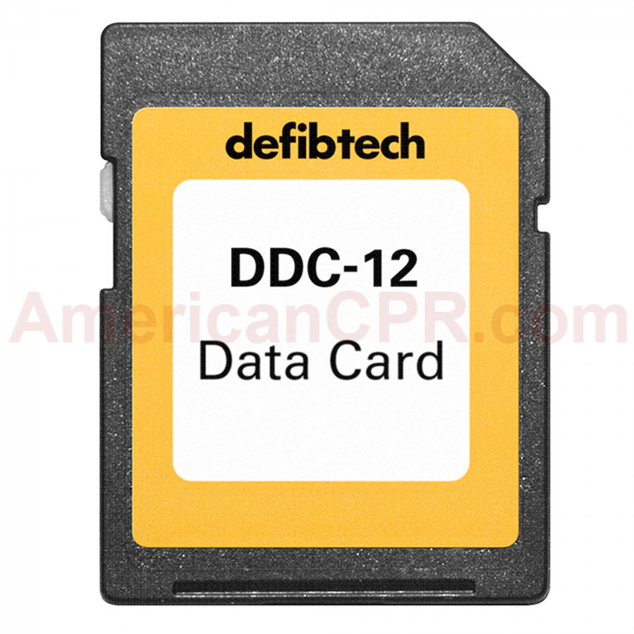 High Capacity Data Card (12-hours, no audio) - Defibtech