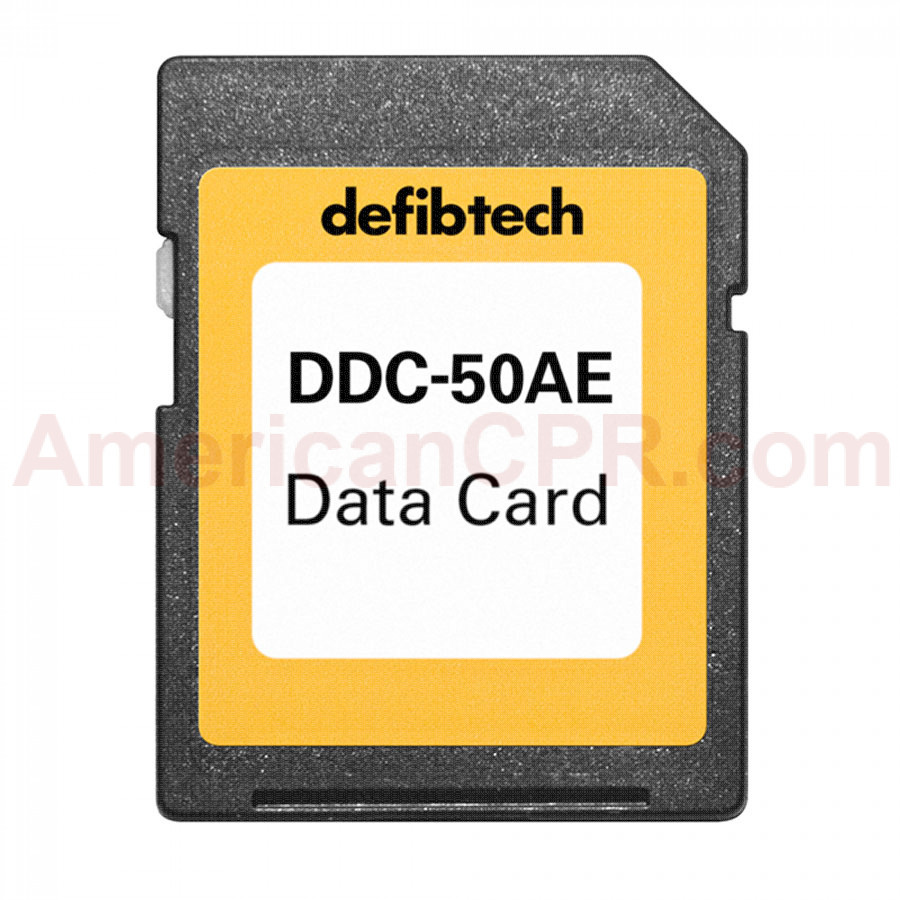Medium Capacity Data Card (50-minutes, Audio) - Defibtech