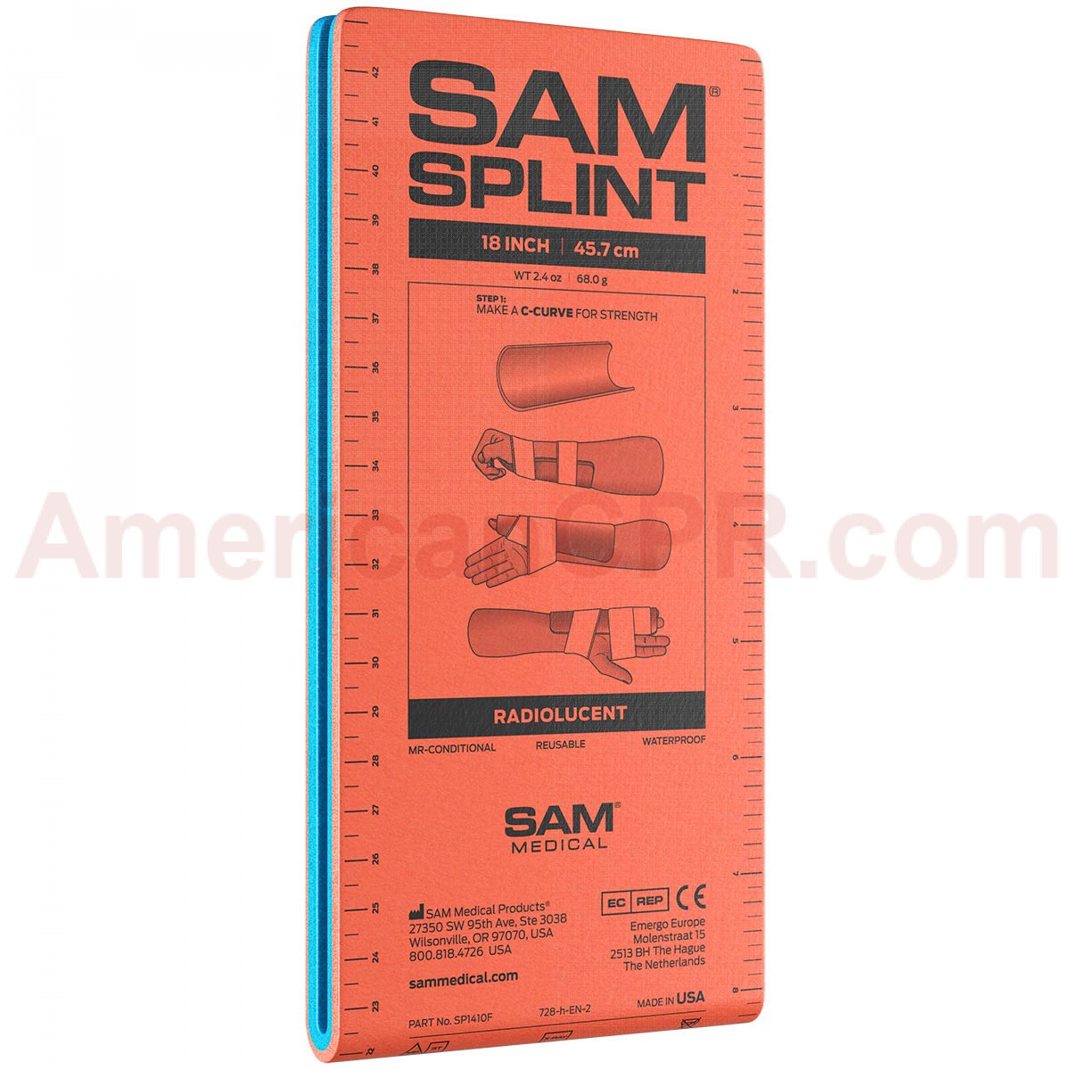 "18"" Junior Sam Splint Flatfold, Reusable, 1 Each - Sam Splint"