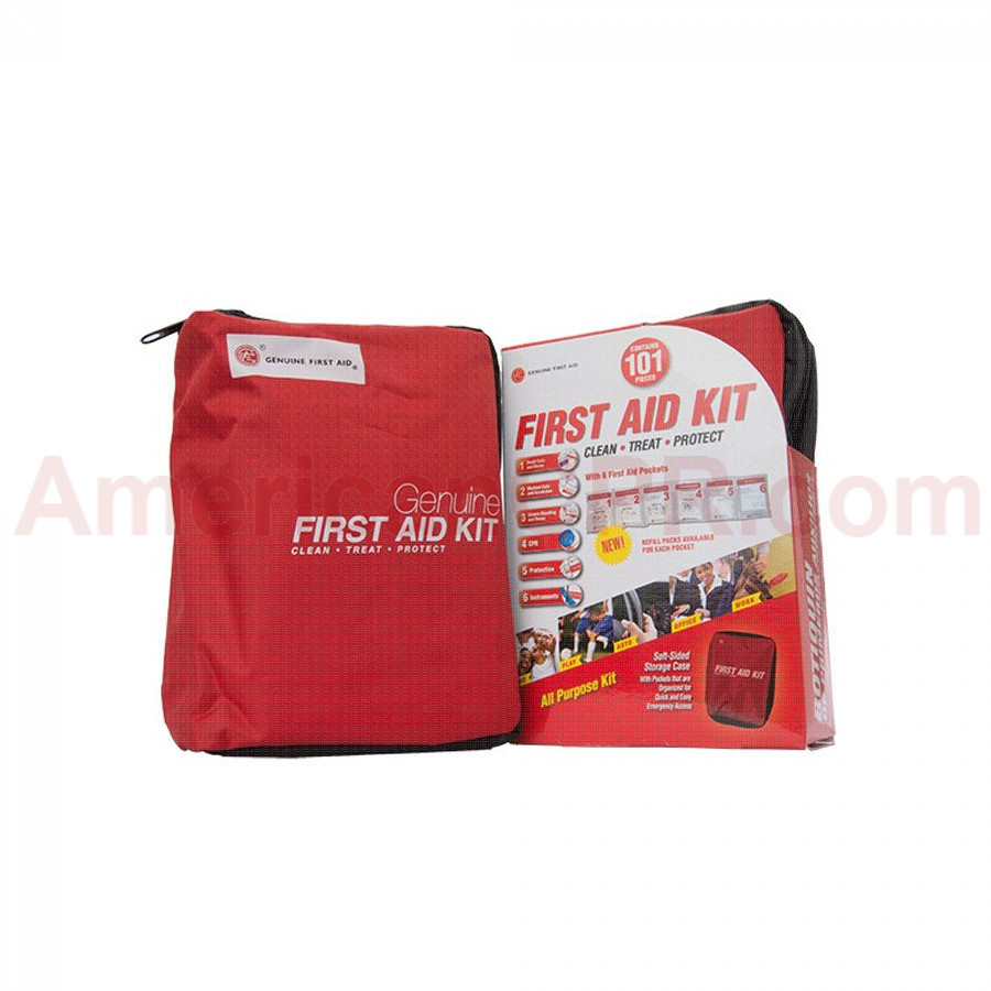 Genuine First Aid Kit Model 101 Red - 101 pieces - Genuine First Aid
