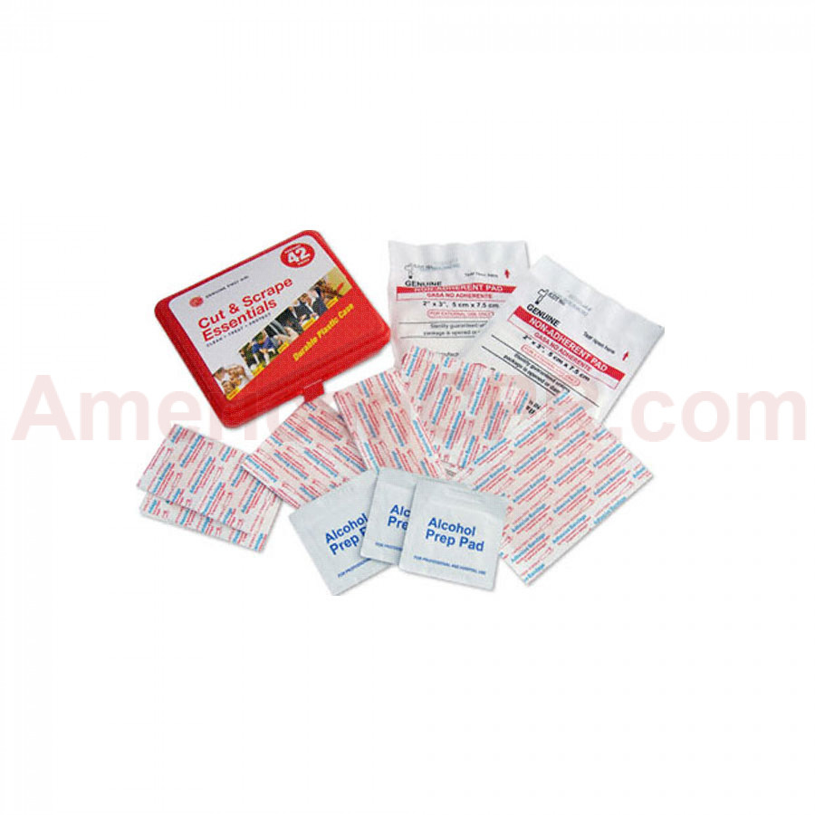 Genuine First Aid Kit Model 42 Red - 42 pieces - Genuine First Aid