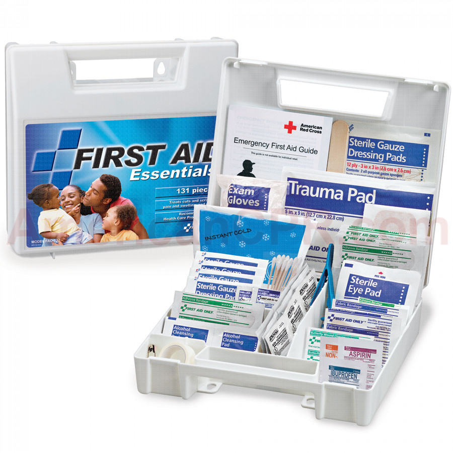 All Purpose First Aid Kit, 131 Pieces - Large - First Aid Only