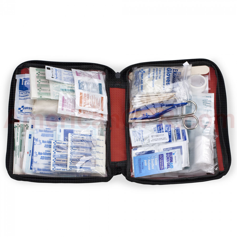 All Purpose First Aid Kit, Softsided, 187 Pieces - Large - First Aid Only
