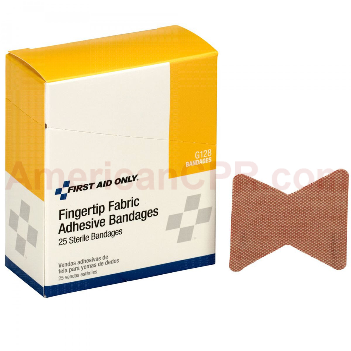Fingertip Bandage, Fabric - 25 Per Box - First Aid Only