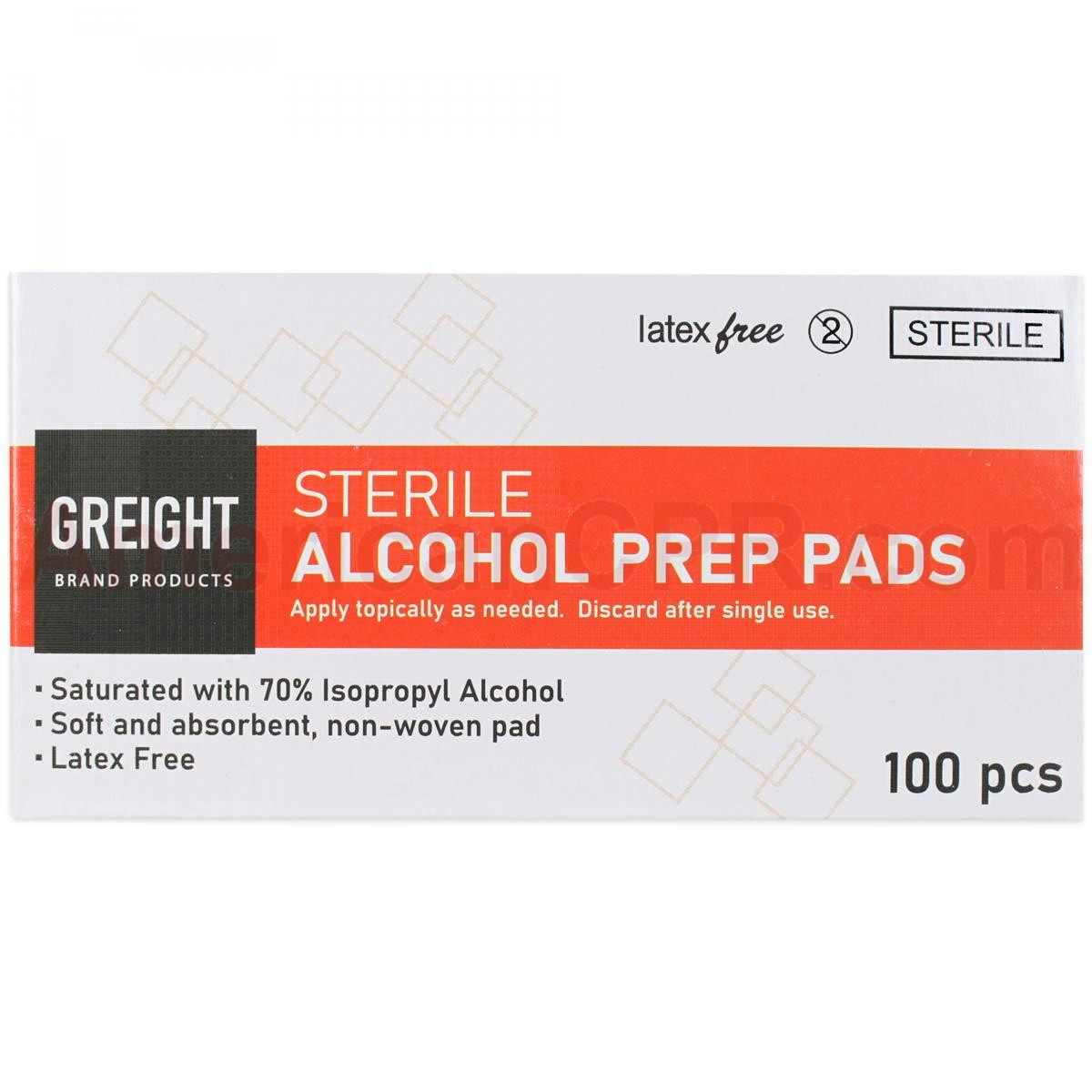 Alcohol Wipes, 100 Wipes Per Box, Prostat First Aid