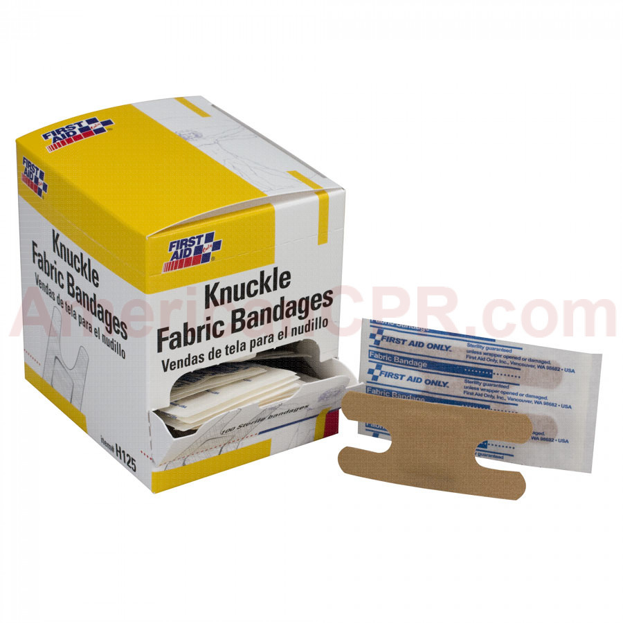 Knuckle Bandage, Fabric - 100 Per Box - First Aid Only