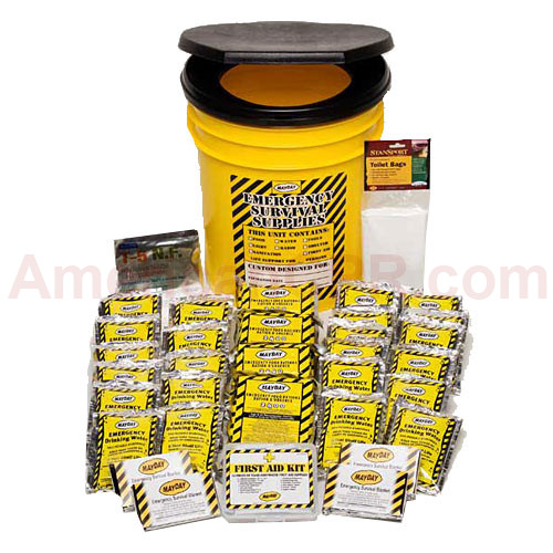 Economy Emergency Kit - 4 Person - Honey Bucket - Mayday