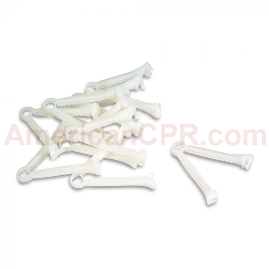 Umbilicus Clamps - Infant CRiSis - 6 Per Pack - LifeForm