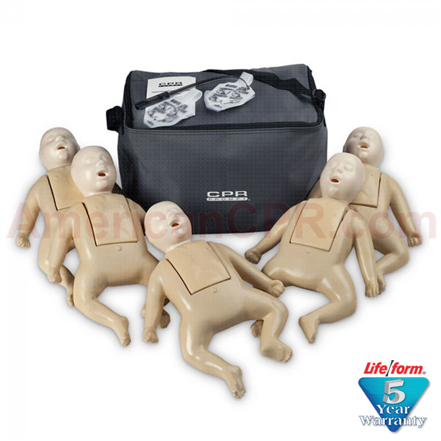CPR Prompt 5-Pack Infant Training Manikin - Tan - CPR Prompt
