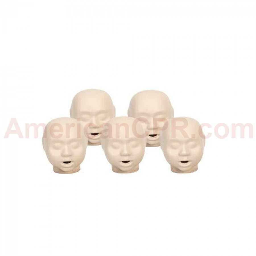 CPR Prompt 5-pack Infant Heads - Blue - CPR Prompt
