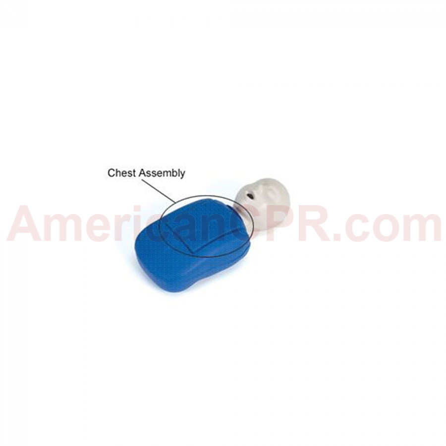 CPR Prompt Coated Infant Chest Assembly - Blue - CPR Prompt