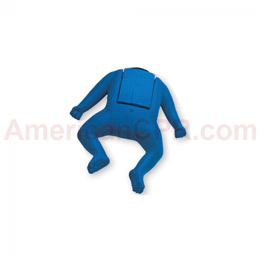 CPR Prompt Coated Infant Manikin Assembly - Blue - CPR Prompt