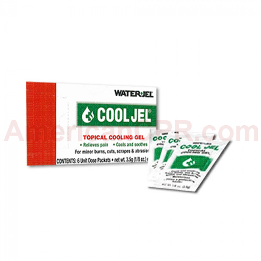 Water Jel Cool Jel Burn Relief - 3.5 gm. - 6 Per Box - Water-Jel