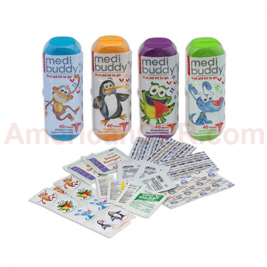 Case of 8 MediBuddy 4 Kidz-Kid Friendly First Aid Items - MediBuddy