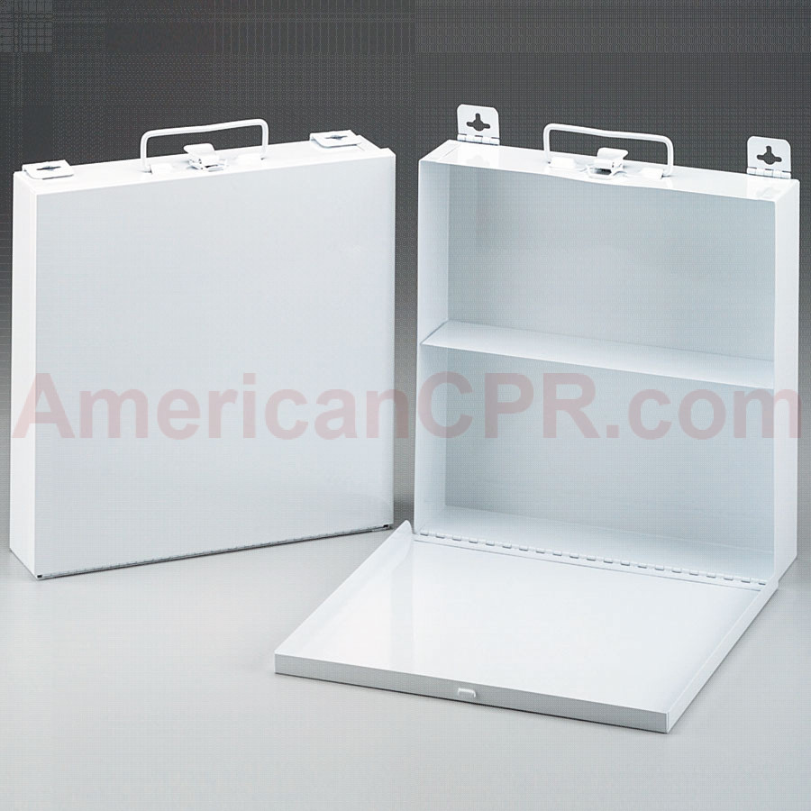 Empty Metal Case, 50 Person, Wall Mountable - First Aid Only