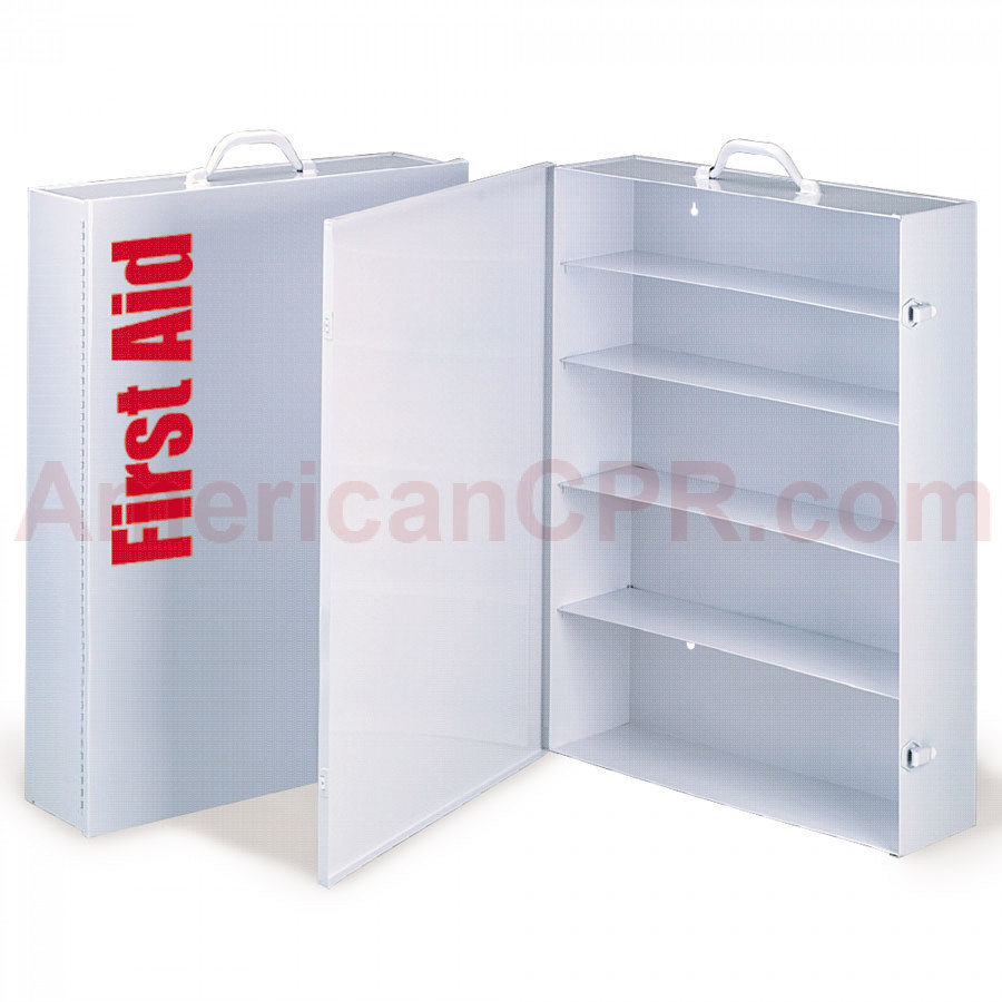 Empty Metal Industrial Cabinet Swing Out Door - 5 Shelf - First Aid Only