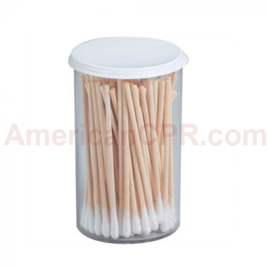 "Cotton Tipped Applicator - Non-Sterile - 3"" - 100 Per Vial - Value Brand"