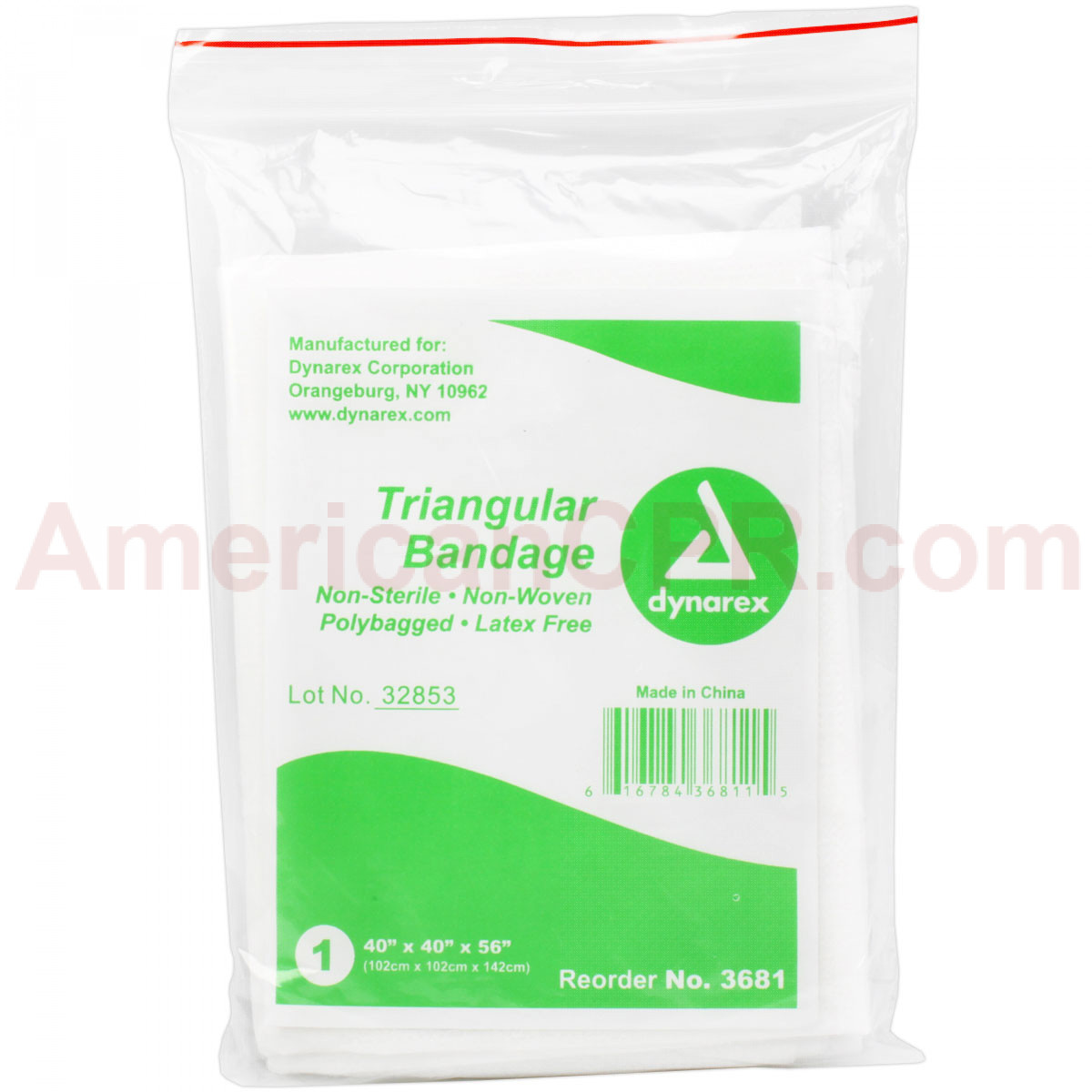 Triangular Sling/Bandage w/ 2 Safety Pins - 1 Each - Value Brand