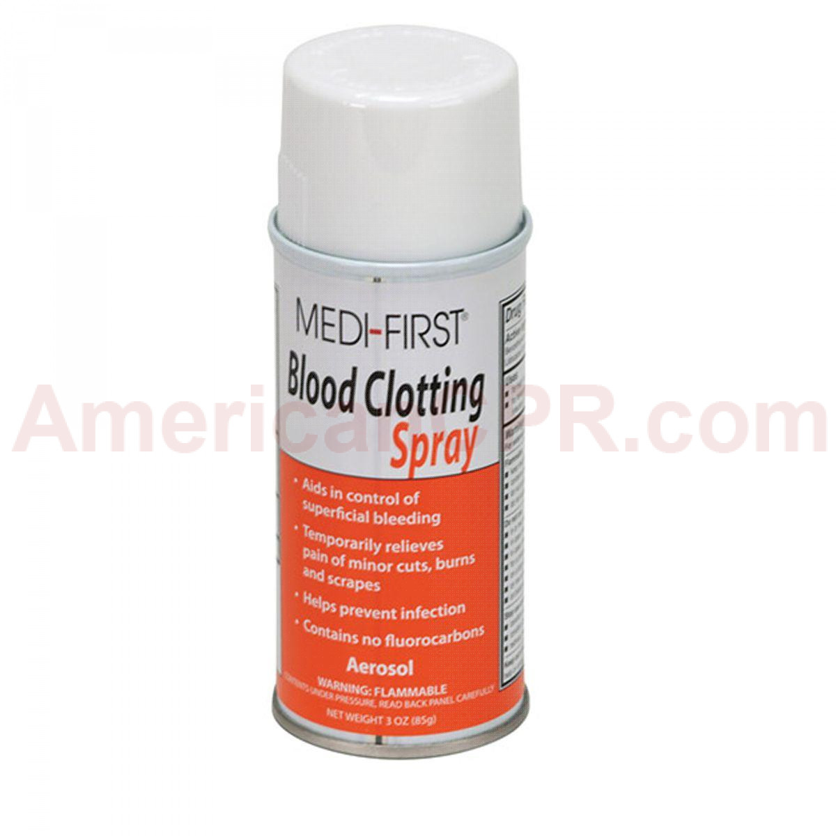 Blood Clotting Spray, 3 oz. Aerosol - 1 Each - Pac-Kit