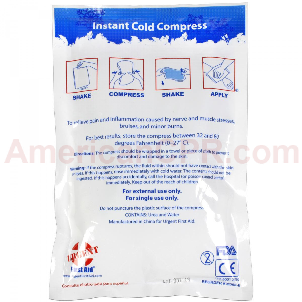"Instant Cold Compress, 6""x9"" - 1 Each - Urgent First Aid"
