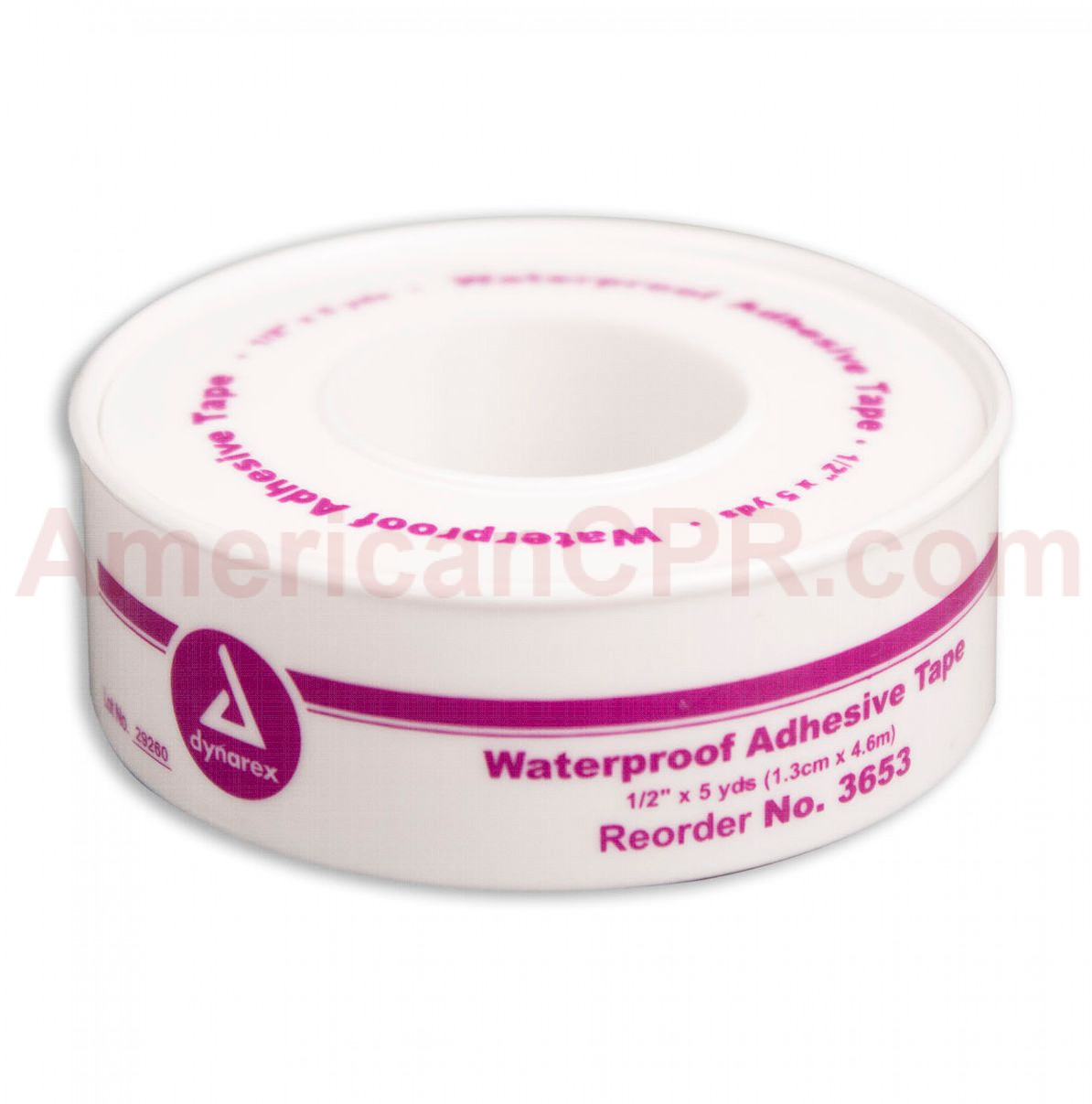 "1/2"" x 5 yd. Waterproof Tape - Plastic Spool - 1 Each - Dynarex"