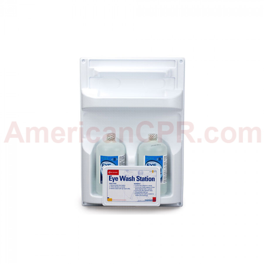 Double Eye Wash Station w/ TWO 32 oz. Plastic Bottles - First Aid Only