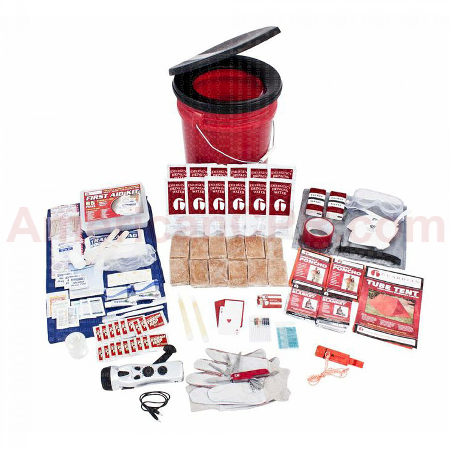 2 Person Guardian Bucket Survival Kit - Guardian Survival Gear