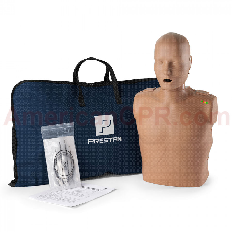 Prestan Adult CPR Manikin w/ Monitor - Dark Skin - Prestan Products