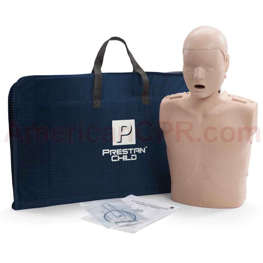 Prestan Child CPR Manikin w/o Monitor - Medium Skin - Prestan Products