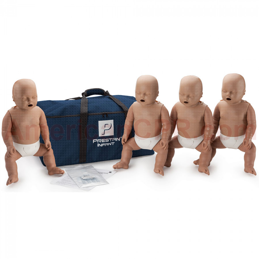 Prestan Infant CPR Manikin w/o Monitor - 4 Pack - Dark Skin - Prestan Products