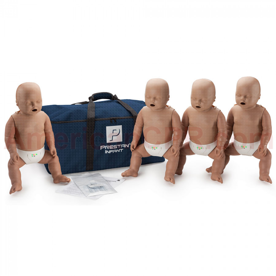 Prestan Infant CPR Manikin w/ Monitor - 4 Pack - Dark Skin - Prestan Products