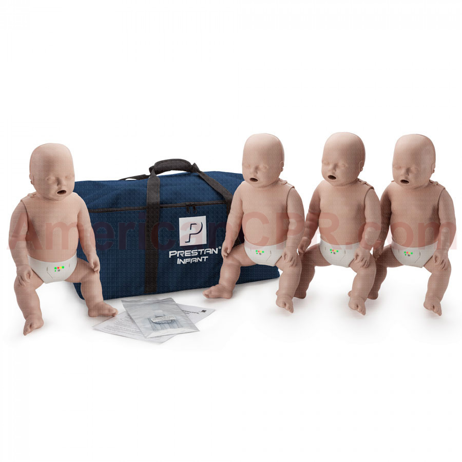 Prestan Infant CPR Manikin w/ Monitor - 4 Pack - Medium Skin - Prestan Products