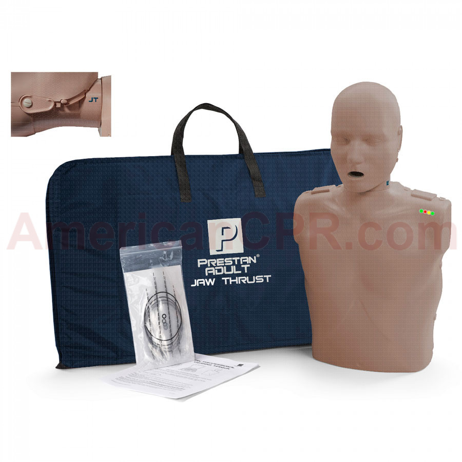 Prestan Adult Jaw Thrust CPR Manikin w/ Monitor - Dark Skin - Prestan Products