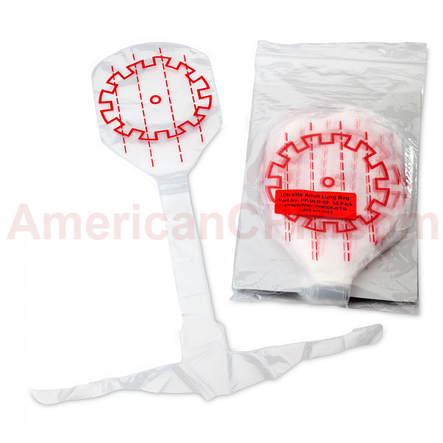 Prestan Ultralite Manikins Lung Bags  - 50 Pack - Prestan Products